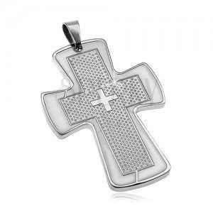Zawieszka ze stali chirurgicznej - masywny krzyż obraz