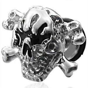 Fałszywy piercing czaszka obraz