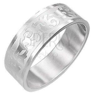 Stalowy pierścionek SYMBOL TRIBAL obraz