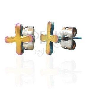 Kolorowe kolczyki ze stali symbol TABONO obraz