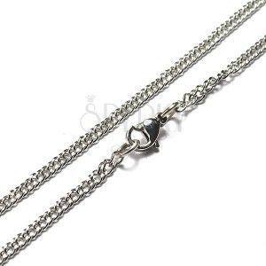 Stalowy łańcuszek - płaski kształt, małe ogniwa obraz