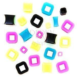 Tunel do ucha - kontur kolorowy kwadrat obraz
