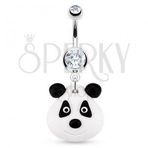 Piercing do pępka - FIMO panda obraz