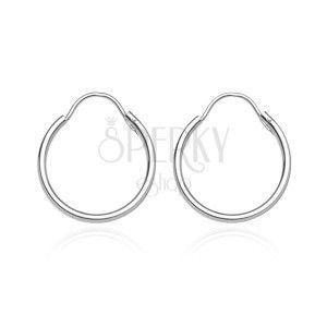 Okrągłe kolczyki ze srebra 925 - gładka, lśniąca powierzchnia, 20 mm obraz