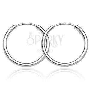 Okrągłe kolczyki ze srebra 925 - lśniące, szerokie, 24 mm obraz