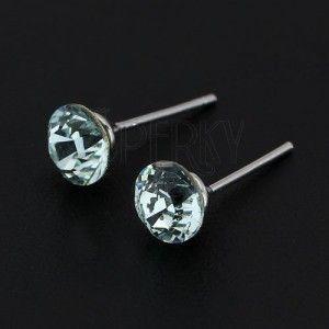 Kolczyki ze srebra 925 - jasnoniebieski SWAROVSKI kryształ obraz