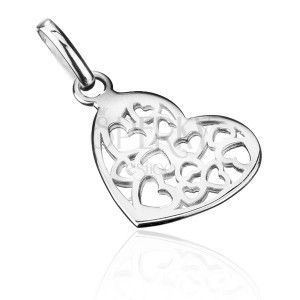 Srebrny wisiorek 925 - małe ażurowe serce obraz