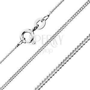 Srebrny łańcuszek 925 - gęste oczka, 1, 2 mm obraz