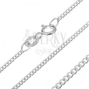 Srebrny łańcuszek 925 - gęste oczka, 1, 6 mm obraz