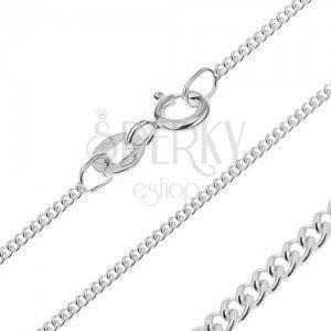 Srebrny łańcuszek 925 - gęste oczka, 1, 4 mm obraz
