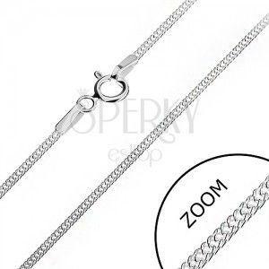 Srebrny łańcuszek 925 - gęste poprzeplatane oczka, 1, 4 mm obraz