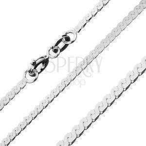 Błyszczący łańcuszek ze srebra 925 - linia w kształcie litery S, 1, 8 mm obraz
