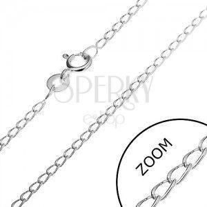 Łańcuszek ze srebra 925 - zaokrąglone podłużne ogniwa, 1, 7 mm obraz