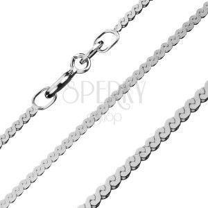 Płaski łańcuszek ze srebra 925 - linia w kształcie litry S, 1, 5 mm obraz