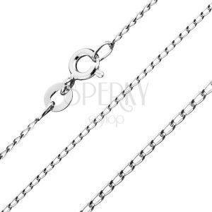 Łańcuszek ze srebra 925 - gładke podłużne ogniwa, 1 mm obraz