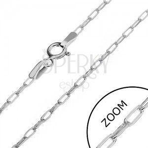 Srebrny łańcuszek 925 - błyszczące prostokąty, 2 mm obraz
