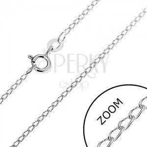 Srebrny łańcuszek 925 - zaokrąglone podłużne oczka, 1, 4 mm obraz