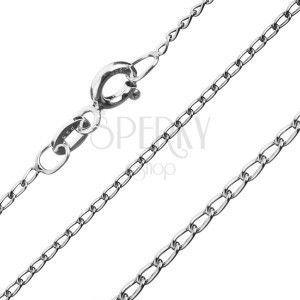 Łańcuszek ze srebra 925 - zaokrąglone podłużne ogniwa, 1, 2 mm obraz