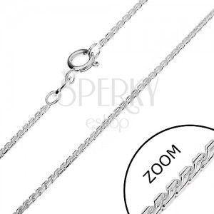 Srebrny łańcuszek 925 - zaokrąglone ogniwa, litera S, 1, 3 mm obraz