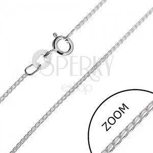 Łańcuszek srebrny 925 - lśniący wężyk z ogniw w kształcie S, 1, 1 mm obraz