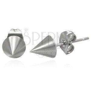 Kolczyki ze stali chirurgicznej w kształcie stożka obraz