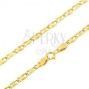 Złoty łańcuszek 585 - kratkowane i promieniste ogniwo, 500 mm obraz