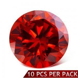 Okrągły szlifowany kamyczek w czerwonym kolorze, 3 mm obraz