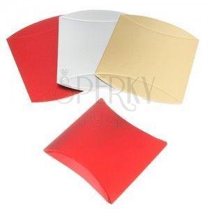 Upominkowe pudełeczko z papieru, lśniąca powierzchnia, różne odcienie kolorystyczne obraz
