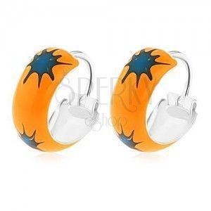 granatowo-pomarańczowy obraz