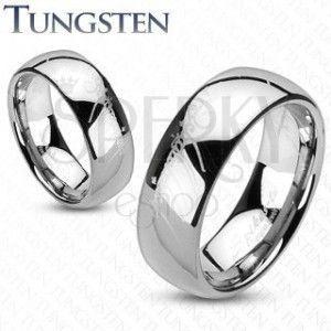 Tungsten pierścionek - obrączka, gładka lśniąca powierzchnia, motyw Władcy Pierścieni, 8 mm obraz