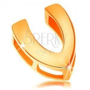 Zawieszka z żółtego 14K złota, litera Z, lustrzany połysk obraz