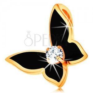 Zawieszka ze złota 14K - motylek z cyrkoniami obraz