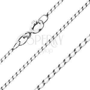 Łańcuszek ze srebra 925, gładkie owalne ogniwa, 1, 3 mm obraz