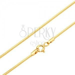 Złoty łańcuszek 585 - ogniwa ułożone we wzór skóry węża, 450 mm obraz
