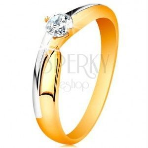 Złote pierścionki zaręczynowe obraz