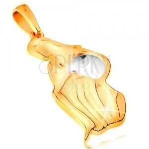 Złota zawieszka 585 - znak zodiaku - WODNIK, dwukolorowa wersja obraz