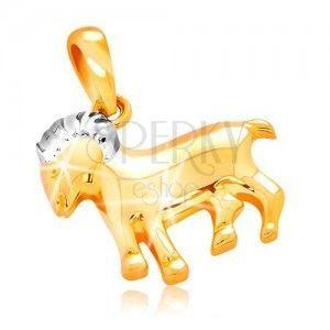 Złota zawieszka 585 - symbol znaku zodiaku - BARAN obraz