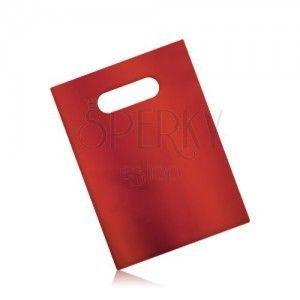 Matowa upominkowa torebka z celofanu, ciemnoczerwony kolor obraz