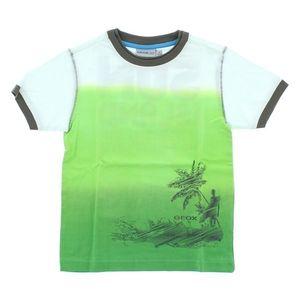Geox Koszulka dziecięce Zielony Biały obraz