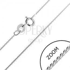 Łańcuszek srebrny 925 - delikatny wężyk, zaokrąglone ogniwa S, 0, 6 mm obraz
