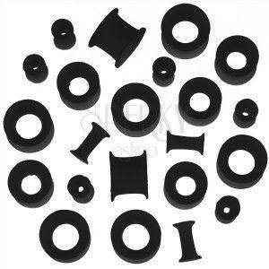 Tunel do ucha z silikonu - czarny, elastyczny, różne rozmiary obraz