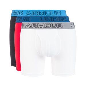 """Under Armour Charged Cotton® Stretch 6"""" 3-pack Bokserki Niebieski Czerwony Biały obraz"""