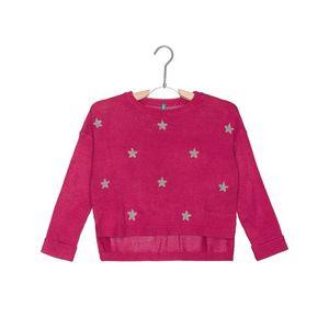 United Colors of Benetton Sweter dziecięcy Różowy obraz