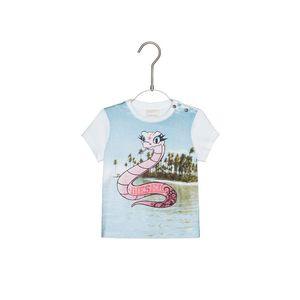 Diesel Koszulka dziecięce Niebieski Biały obraz