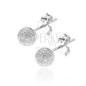 Kolczyki ze srebra 925 - sztyfty z błyszczącą kulką, 5 mm obraz