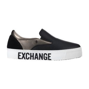 Armani Exchange Slip On Buty Czarny obraz