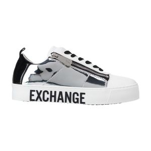 Armani Exchange Tenisówki Biały Srebrny obraz