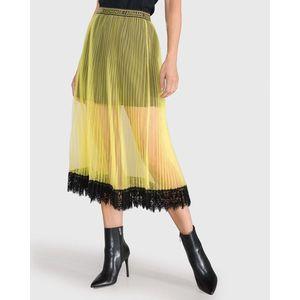 Armani Exchange Spódnica Żółty obraz