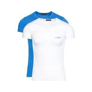 Emporio Armani 2-pack Dolna koszulka Niebieski Biały obraz
