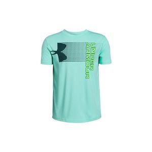 Under Armour Crossfade Koszulka dziecięce Niebieski Zielony obraz
